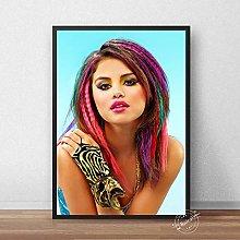 danyangshop Selena Gomez Poster Music Singer Black