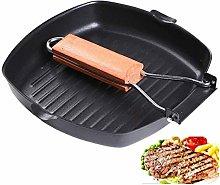 DANYIN Folding Handle Non-Stick Square Frying Pan