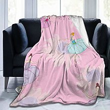 DAOPUDA Throw Blanket,Floral Texture Baby Dancer