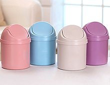DaoRier Mini Trash Can Desktop Paper Bins Waste