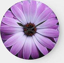daoyiqi 12 Inch Wall Clock, Purple Daisy Large