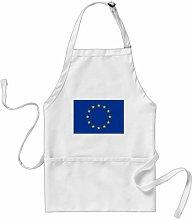 daoyiqi Funny Bib Apron, European Union Flag BBQ