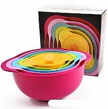 DAPENG Mixing Bowls Set of 5 Piece,Plastic Mixing