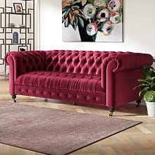Darby 3 Seater Sofa Canora Grey Upholstery Colour: