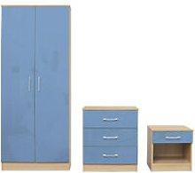 Darcy Bedroom Set Blue - Cupboard, Cabinet,