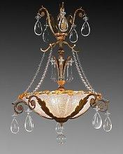 Dark 5-Light Crystal Chandelier Astoria Grand