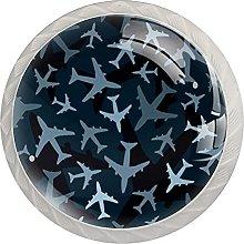 Dark Blue Camouflage, Modern Minimalist Printing