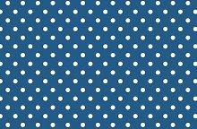 Dark Blue Polka Dot Vinyl Table Cover PVC