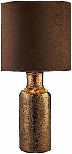 Dark Bronze Hammered Ceramic Table Lamp Light with