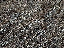 Dark Brown Boucle Weave Upholstery Fabric Fire