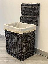 Dark Brown Laundry Basket Storage Bedroom Bathroom