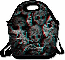 Dark Creepy Lunch Bags Insulated Handbag Lunchbox
