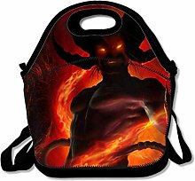 Dark Demon Lunch Bag Lunchbox Food Container Tote