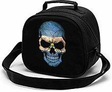 Dark El Salvador Flag Skull Insulated Lunch Bag