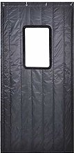 Dark Gray Outside Door Curtain with Transparent