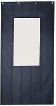 Dark Gray Thermal Front Door Curtain with