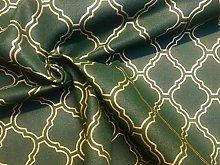 Dark Green & Gold Moroccan Arabic Damask Print