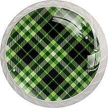 Dark Green Plaid, Modern Minimalist Printing