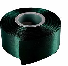 Dark Green Satin Ribbon - 50mm Wide - 5 Meter -