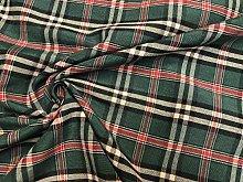 Dark Green Tartan Plaid Check Christmas Fabric