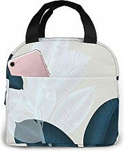 Dark Green White Brown Nature Lunch Bag,Reusable