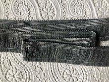 DARK GREY Brush Fringe Tassels Textile Cut Pillow