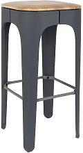 Dark grey up-high bar stool