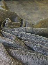 Dark Grey Velvet Plush Heavy Upholstery Curtain