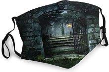 Dark Haunted Old House Fashion Unisex Cloth Ma_sk