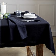 Dark Navy Tablecloth, Dark Navy, One Size