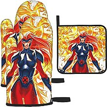 Dark Phoenix Oven Mitts and Pot Holders Sets 3
