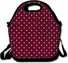 Dark Red Reusable Lunch Bag Insulated Lunch Tote