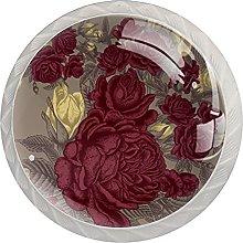 Dark Roses, Modern Minimalist Printing Cupboard