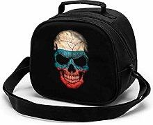Dark Russian Flag Skull Insulated Lunch Bag Mini