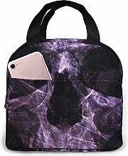 Dark Skull Evil Horror Skeleton Lunch Bag,Reusable