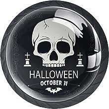 Dark Skull Halloween, Modern Minimalist Printing