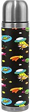 Dark Space Colorful Rocket Thermos Sport Water