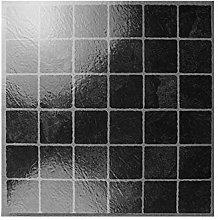 Dark Square Mosaic Effect Tiles Self Adhesive