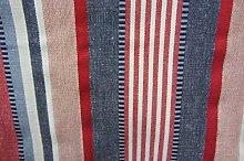 Dartford Striped Woven Cotton Curtain Fabric