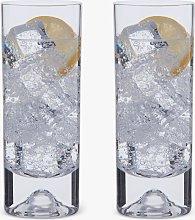 Dartington Crystal Dimple Highball Glasses, Set of