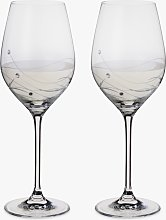 Dartington Crystal Glitz Wine Glasses, 330ml, Set