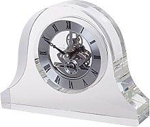 Dartington Crystal Mantle Clock, Clear