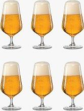 Dartington Crystal Simplicity Beer Glasses, 380ml,
