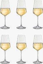 Dartington Crystal Simplicity White Wine Glasses,