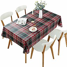 DARUITE Gingham Tablecloth, PVC Christmas Checked