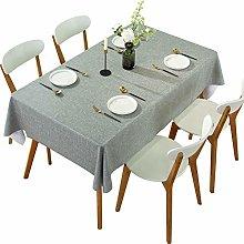 DARUITE PVC Table Cloth Waterproof Wipeable, Gray