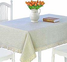 DARUITE PVC Table Cloth Waterproof Wipeable, Heavy