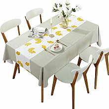 DARUITE PVC Table Cloth Waterproof Wipeable,