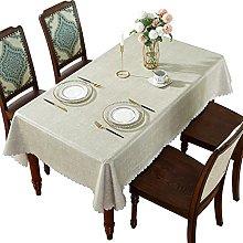 DARUITE PVC Table Cloth Wipeable Waterproof,