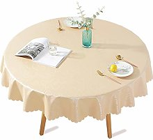 DARUITE PVC Table Cloth Wipeable Waterproof, Round